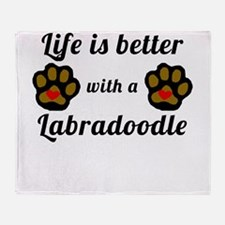 Life Is Better With A Labradoodle Throw Blanket