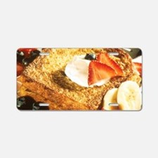 French Toast Aluminum License Plate
