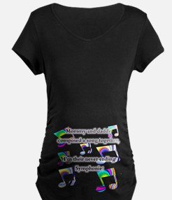 Mommy And Daddy Symphony Maternity T-Shirt