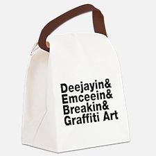 Four Elements of Hip Hop Canvas Lunch Bag
