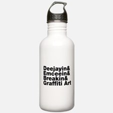 Four Elements of Hip Hop Sports Water Bottle