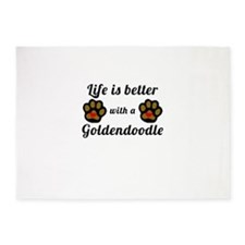 Life Is Better With A Goldendoodle 5'x7'Area Rug