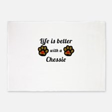 Life Is Better With A Chessie 5'x7'Area Rug