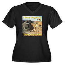 Gold Mine Nu Women's Plus Size V-Neck Dark T-Shirt