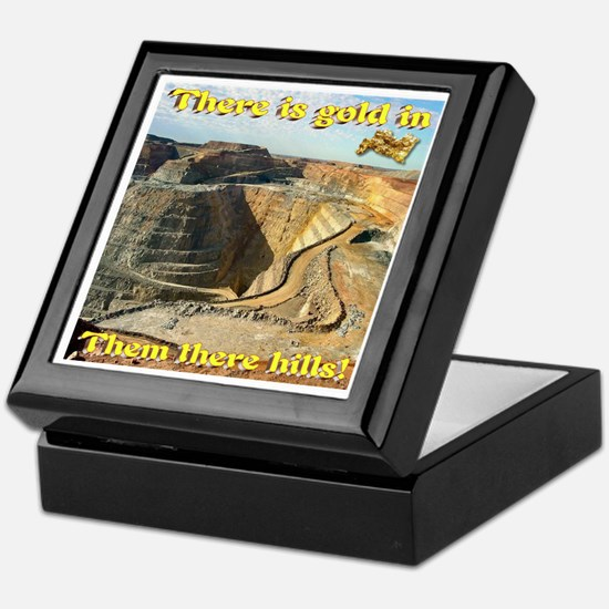 Gold Mine Nugget In The Sky Keepsake Box