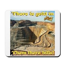 Gold Mine Nugget In The Sky Mousepad