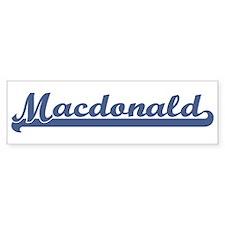 Macdonald (sport-blue) Bumper Bumper Sticker