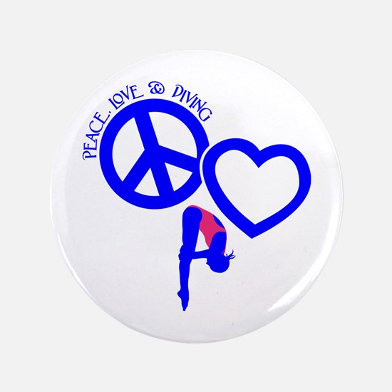 PEACE-LOVE-DIVING Button