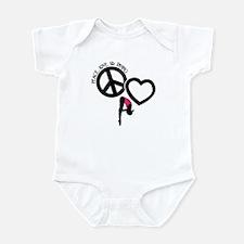 PEACE-LOVE-DIVING Infant Bodysuit