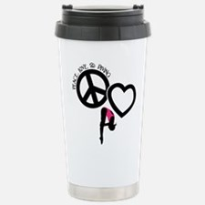PEACE-LOVE-DIVING Stainless Steel Travel Mug