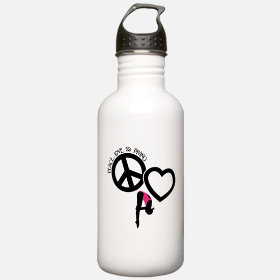 PEACE-LOVE-DIVING Water Bottle