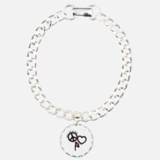 PEACE-LOVE-DIVING Charm Bracelet, One Charm