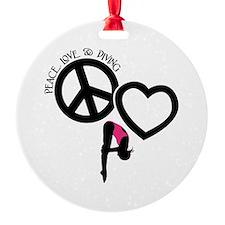 PEACE-LOVE-DIVING Ornament