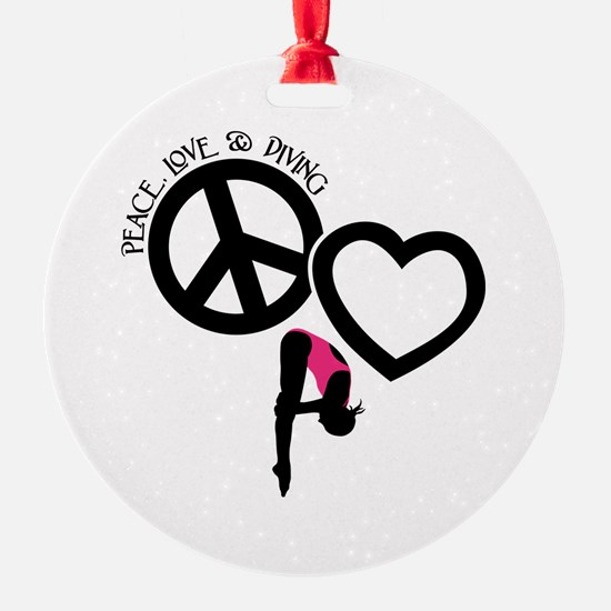 PEACE-LOVE-DIVING Ornament