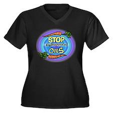 """Stop Hydrogenated Oils"" Women's Plus Size V-Neck"