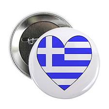 Greek Flag Heart Button