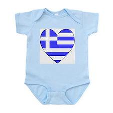 Greek Flag Heart Valentine Infant Creeper