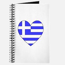 Greek Flag Heart Journal