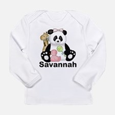 savannah's sweet panda Long Sleeve Infant T-Shirt