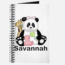 Savannah's Sweet Panda Personalized Journal