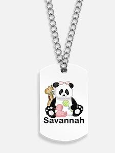Savannah's Sweet Panda Personalized Dog Tags