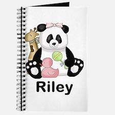 riley's sweet panda personalized Journal