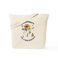 Property of a Sun Conure Tote Bag