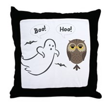 Boo Hoo! Funny Halloween Throw Pillow