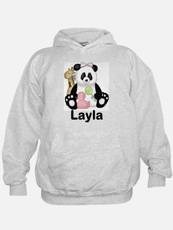 layla's sweet panda personalized Hoodie