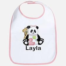 layla's sweet panda personalized Bib