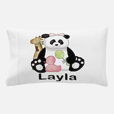 layla's sweet panda personalized Pillow Case