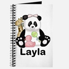layla's sweet panda personalized Journal