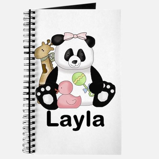 layla's sweet panda personalized Journal