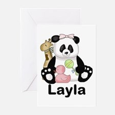 layla's sweet panda pers Greeting Cards (Pk of 20)