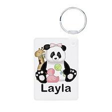 layla's sweet panda person Keychains