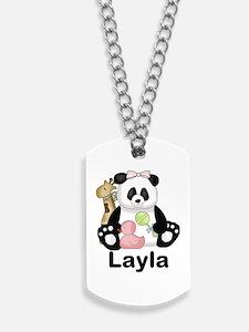 layla's sweet panda personalized Dog Tags