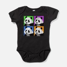 Unique Panda bear Baby Bodysuit