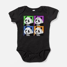 Unique Panda bears Baby Bodysuit