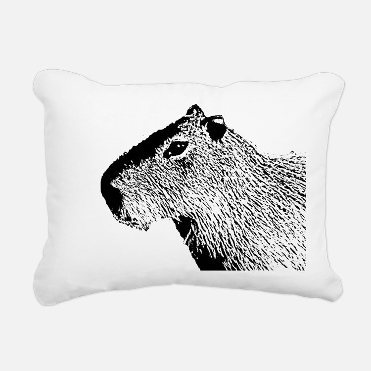 Cute Capybara Rectangular Canvas Pillow
