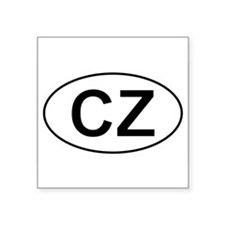 "Cute Czech Square Sticker 3"" x 3"""