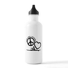 PEACE-LOVE-ROWING Water Bottle