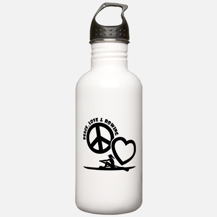 PEACE-LOVE-ROWING Water Bottle