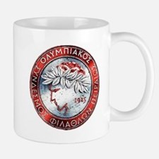 Olympiacos Red Metal Mugs