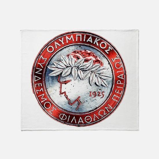 Olympiacos Red Metal Throw Blanket