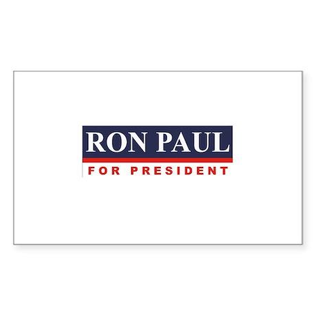 Ron Paul for President Rectangle Sticker