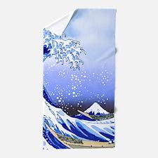 Surf's Up Great Wave Hokusai Beach Towel