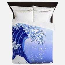 Surf's Up Great Wave Hokusai Queen Duvet