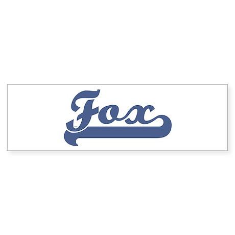 Fox (sport-blue) Bumper Sticker