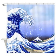 Surf's Up! The Great Wave Shower Curtain