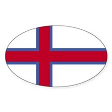 Square Faroe Islands Flag Decal